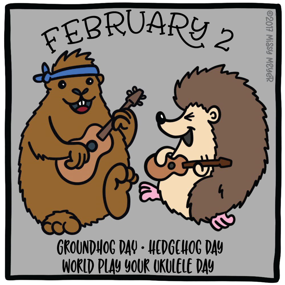 The Holiday Doodle for February 2, as described to Alex Trebek!