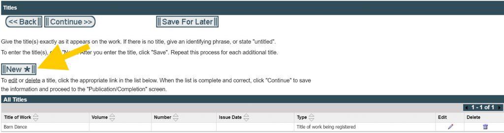 Registering Copyright: Title of Work