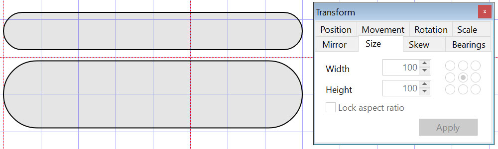 Rounded rectangles for building