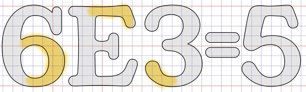 Making the 5 figure from a pile of other shapes