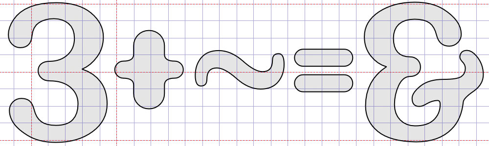 Creating the ampersand from the 3 and tilde