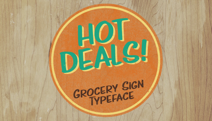 Hot Deals - grocery-style font