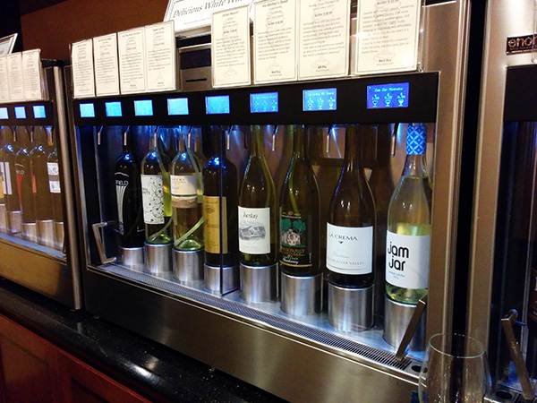 Enomatic wine machines.