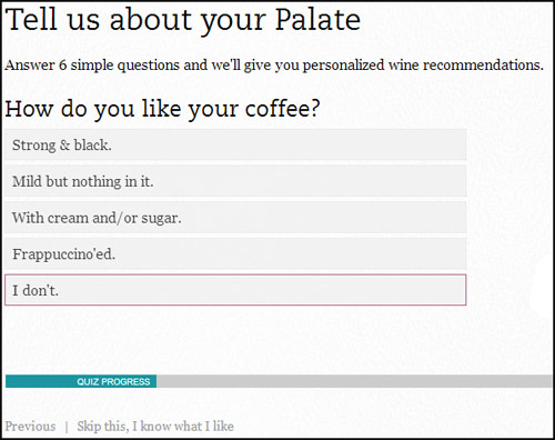 Club W - Palate Profile