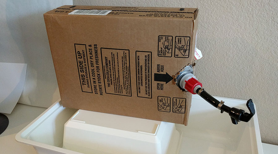 A bag-in-box system for Diet Coke syrup
