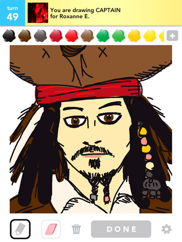 My Draw Something picture of Jack Sparrow