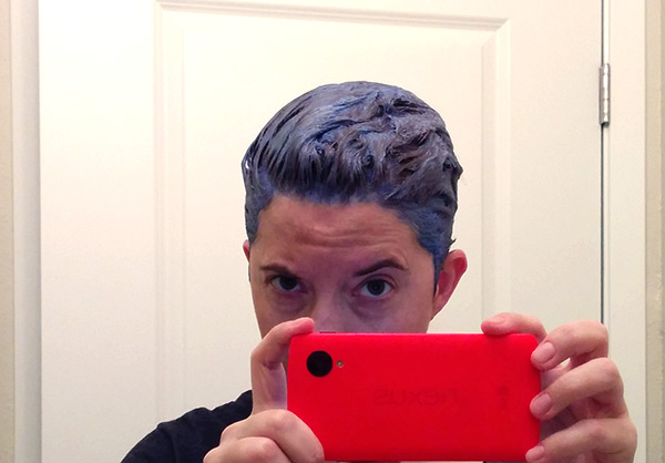 blue bleach