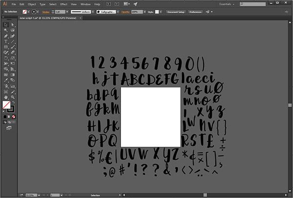 Script font - my Illustrator file