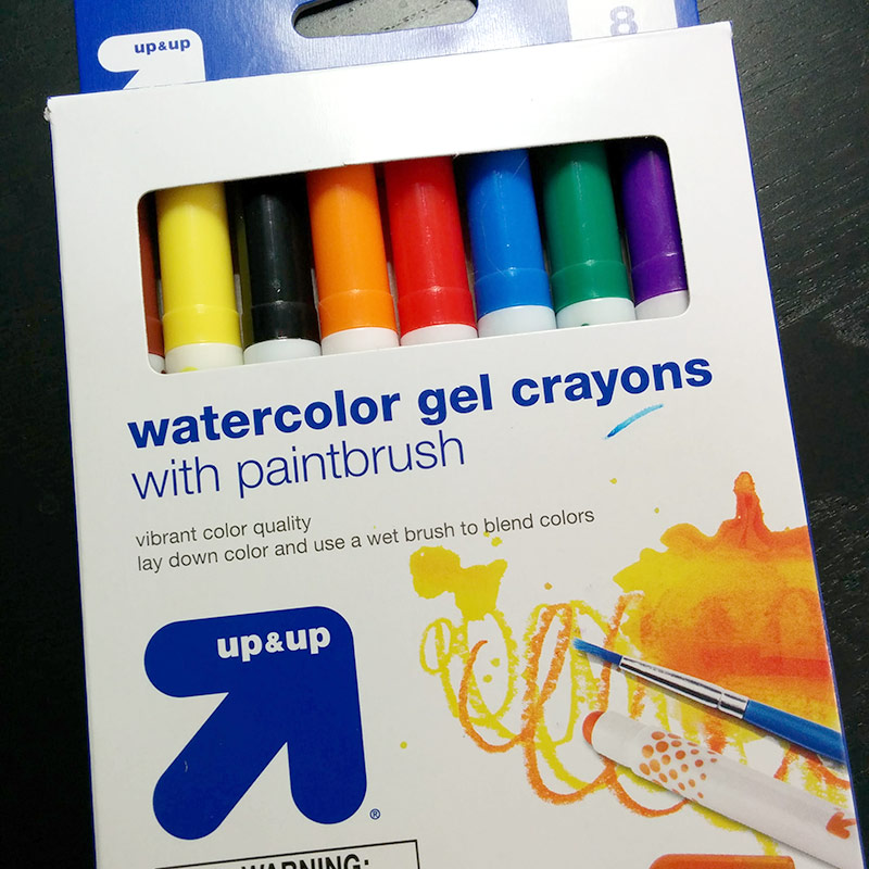watercolor gel crayons