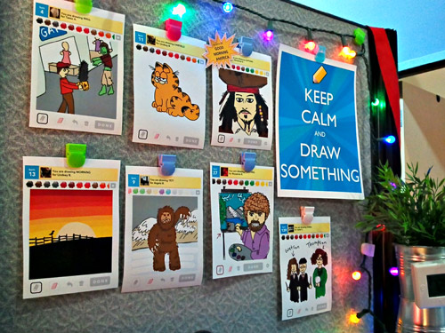 My Draw Something gallery at work