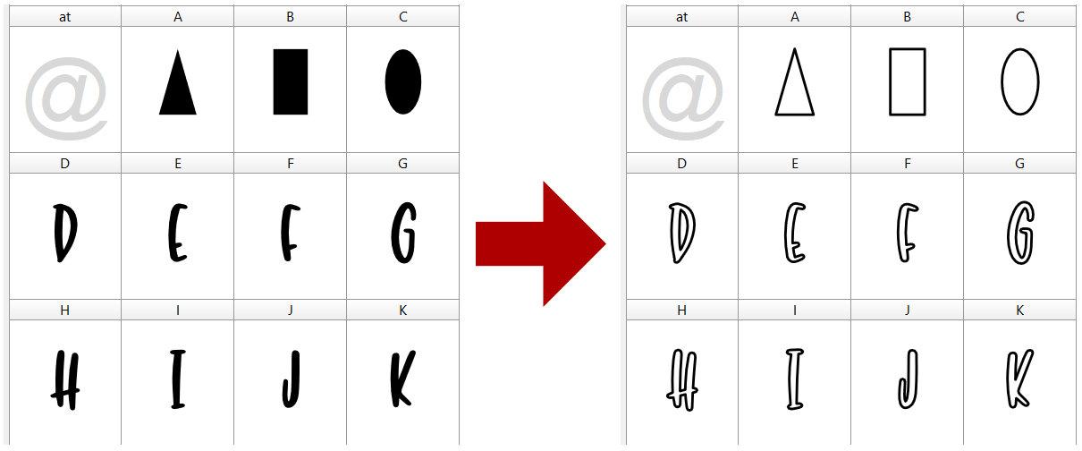 Single-Line Font Basics: Change to Single Stroke