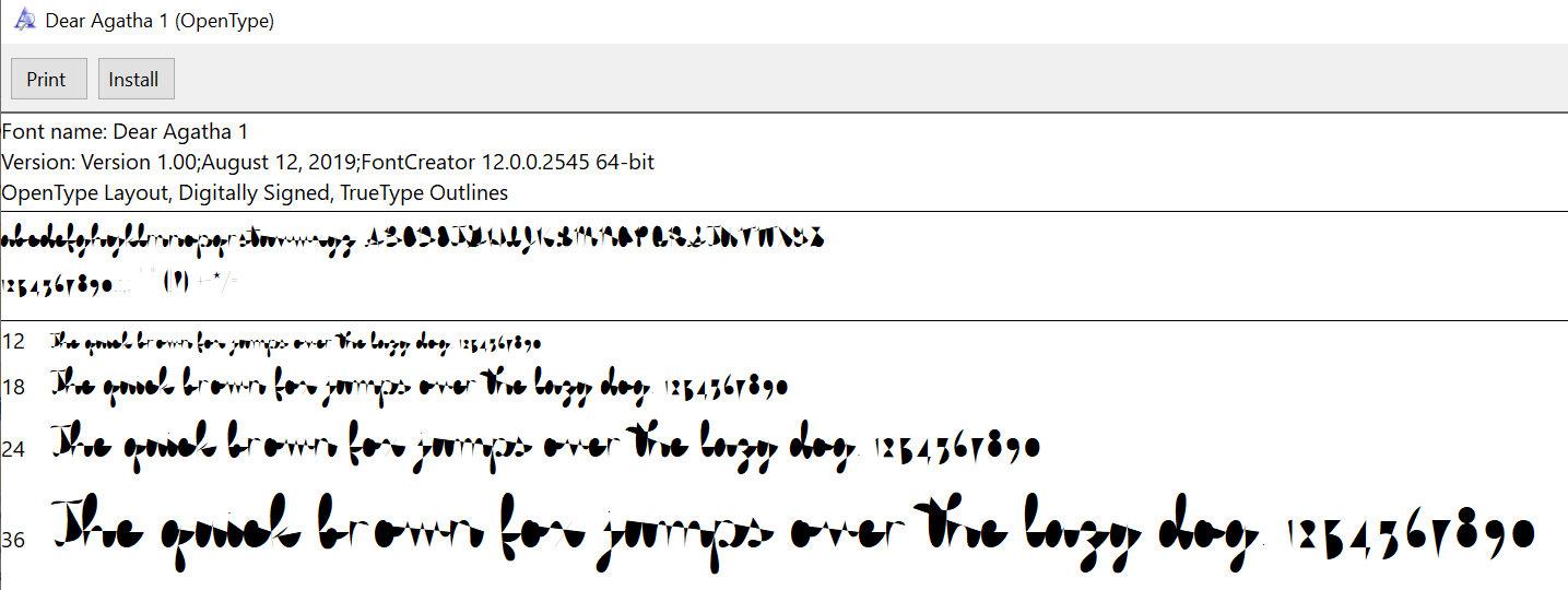 Single-Line Font Basics: Preview of Single Stroke