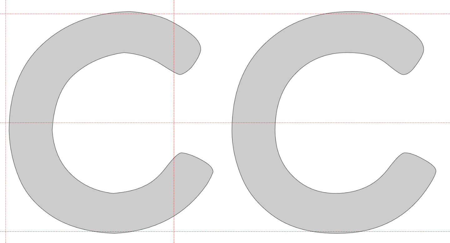 Common font construction mistakes: curves