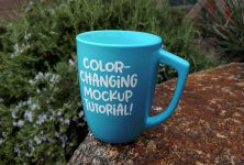 Color-changing mug mockup tutorial