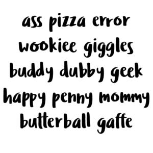 Ludicrous - double letter ligatures