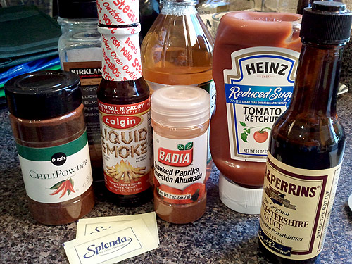 Homemade BBQ sauce ingredients