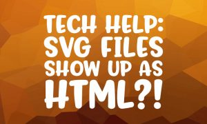 Tech help: what to do when SVG files show up as HTML files in Windows