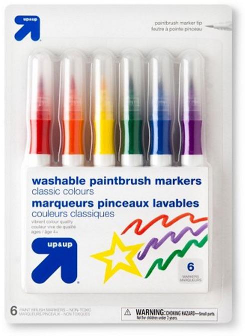 Target Paintbrush Markers