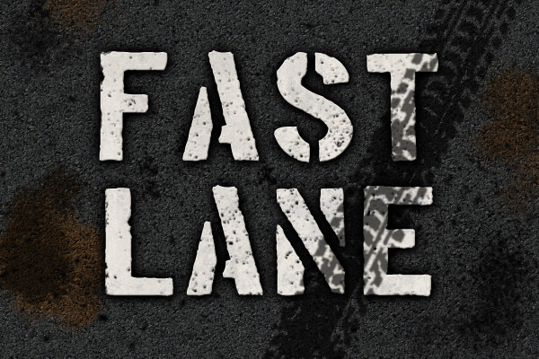 Photoshop text effect - road stencil tutorial